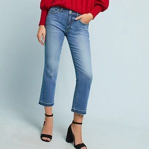 Anthropologie Pilcro High-Rise Crop Flare Jeans 28